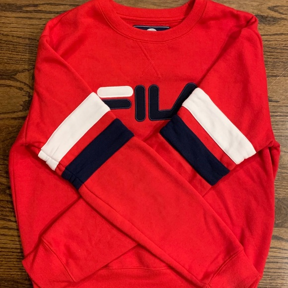 2e7efd6772a8 Fila Tops | Authentic Sweatshirt | Poshmark